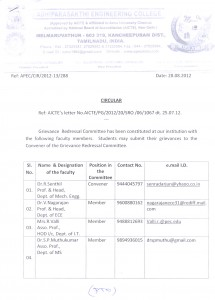 Grievance Redressal - Committee Pg:1